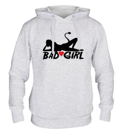 Толстовка с капюшоном Bad girl