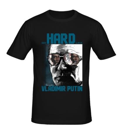 Мужская футболка Go Hard Like Vladimir Putin