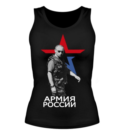 Женская майка «Армия России»