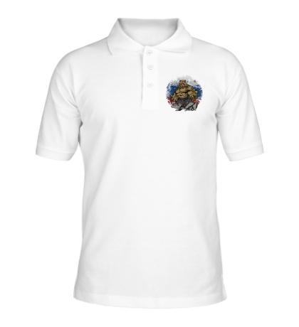 Рубашка поло Русская мощь медведя