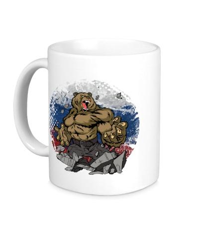 Керамическая кружка Русская мощь медведя
