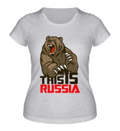 Женская футболка This is Russia