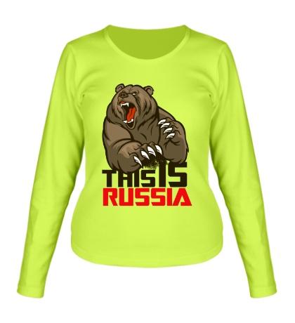 Женский лонгслив This is Russia
