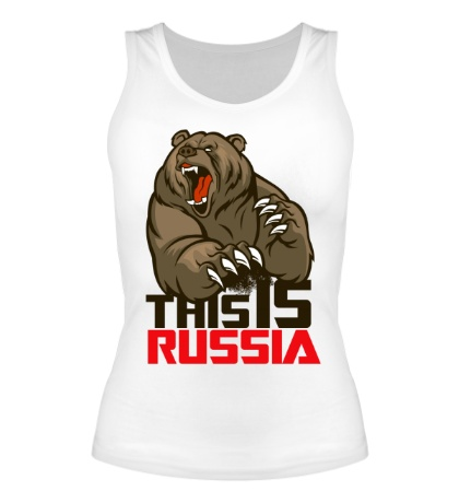 Женская майка This is Russia