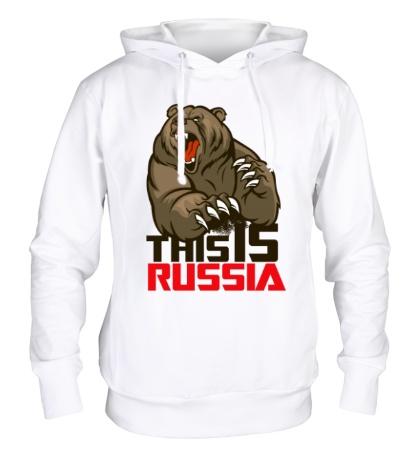 Толстовка с капюшоном This is Russia