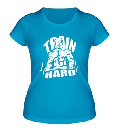 Женская футболка Train hard bro
