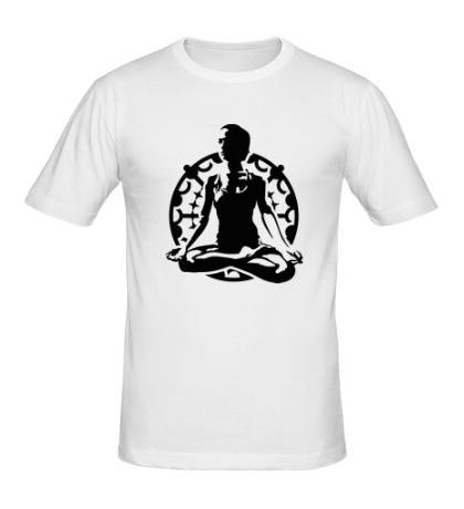 Мужская футболка Йога лотус