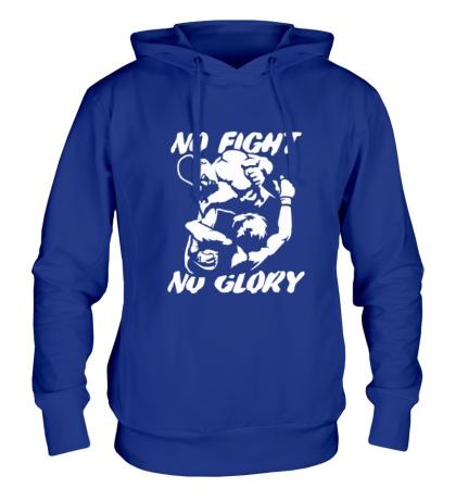 Толстовка с капюшоном No fight no glory
