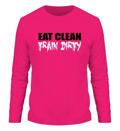 Мужской лонгслив Eat clean train dirty