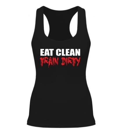 Женская борцовка Eat clean train dirty