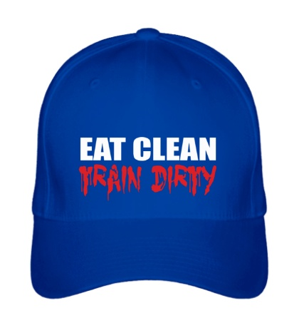 Бейсболка Eat clean train dirty