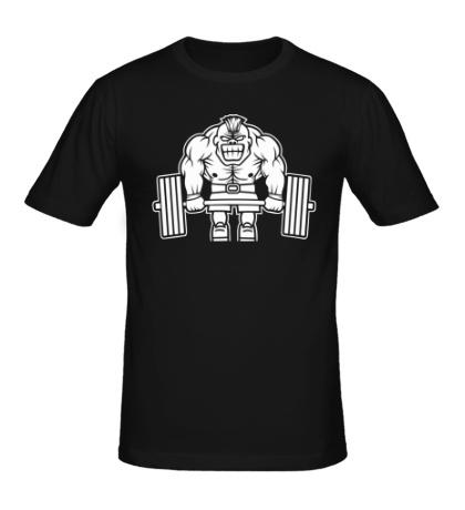 Мужская футболка Суровый тяжелоатлет