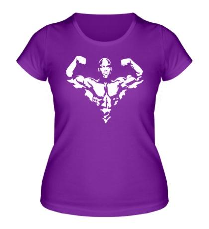 Женская футболка Бодибилдер спортсмен