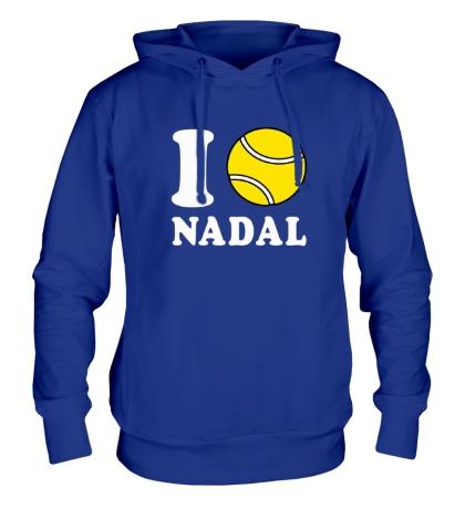 Толстовка с капюшоном I love Nadal