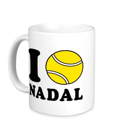Керамическая кружка I love Nadal