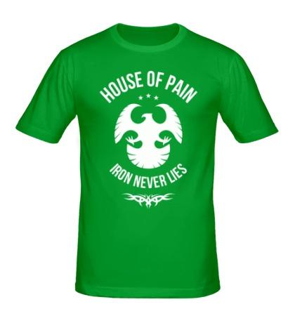 Мужская футболка «Iron never lies»