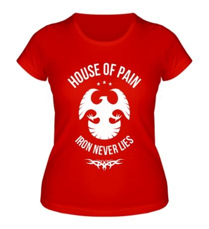 Женская футболка Iron never lies
