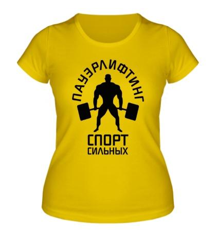 Женская футболка Пауэрлифтинг спорт