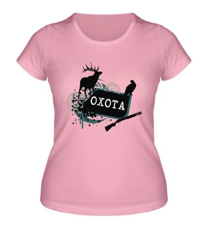 Женская футболка Дикая охота