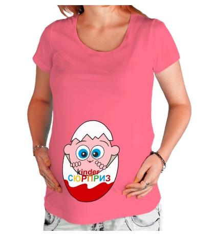 Футболка для беременной Малыш в киндере
