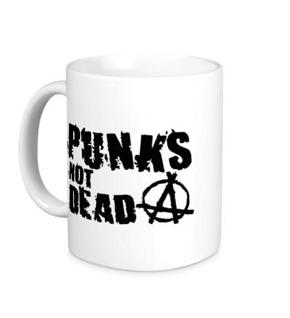 Керамическая кружка Punk not Dead Anarchy