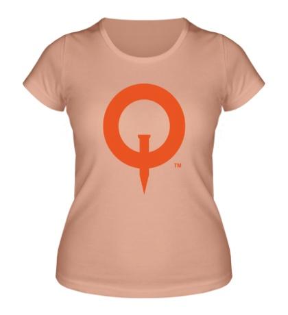 Женская футболка Quake