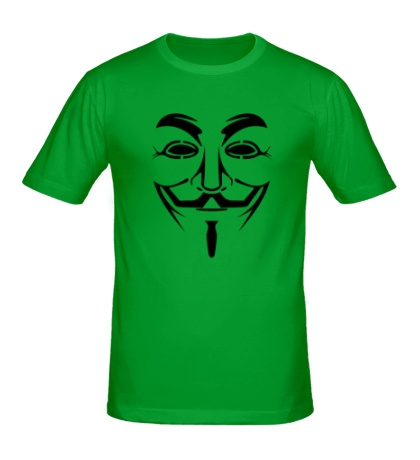 Мужская футболка Маска анонимуса