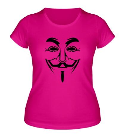Женская футболка Маска анонимуса