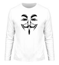 Мужской лонгслив Маска анонимуса