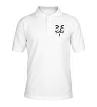 Рубашка поло Маска анонимуса