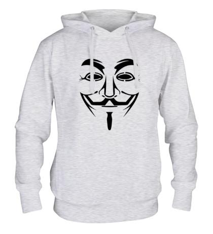 Толстовка с капюшоном Маска анонимуса