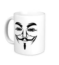 Керамическая кружка Маска анонимуса