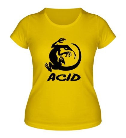Женская футболка Acid iguana