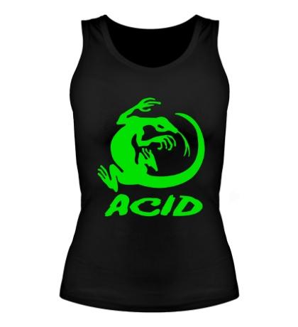 Женская майка Acid iguana