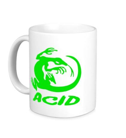 Керамическая кружка Acid iguana
