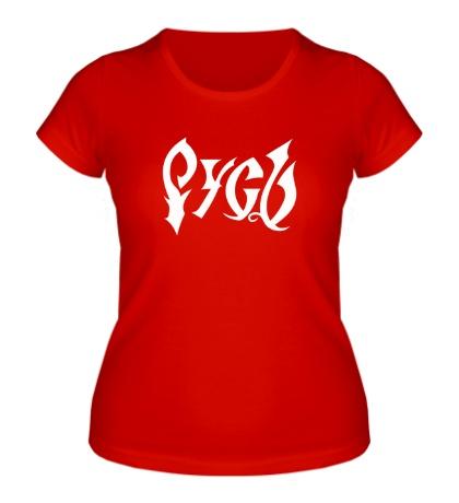 Женская футболка Родная Русь