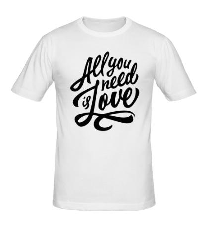 Мужская футболка All you need is love