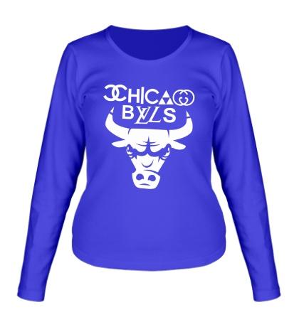 Женский лонгслив Chicago Bulls fun logo