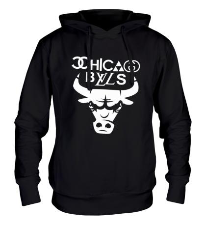 Толстовка с капюшоном Chicago Bulls fun logo