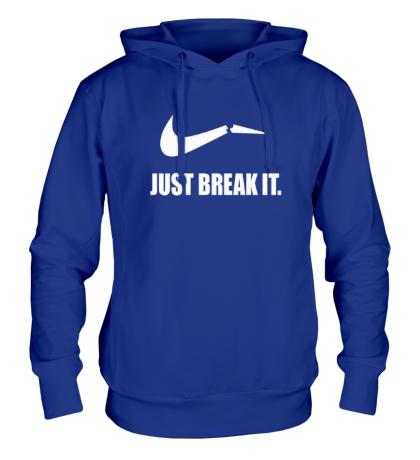 Толстовка с капюшоном Just break it