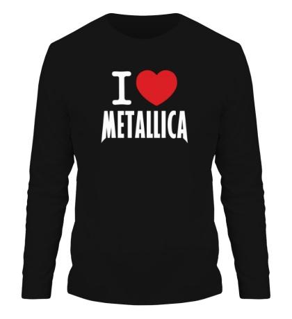 Мужской лонгслив I love Metallica