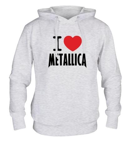 Толстовка с капюшоном I love Metallica