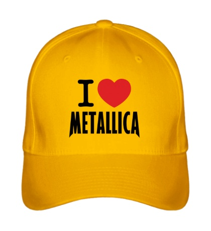Бейсболка I love Metallica