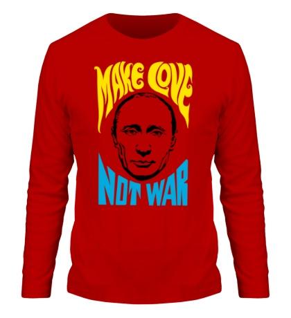 Мужской лонгслив Putin: Make love not war