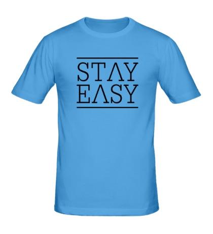 Мужская футболка Stay easy