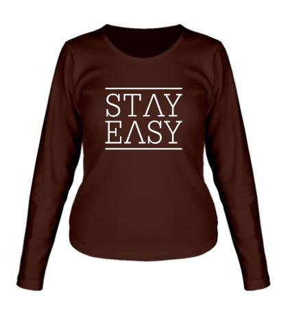 Женский лонгслив Stay easy