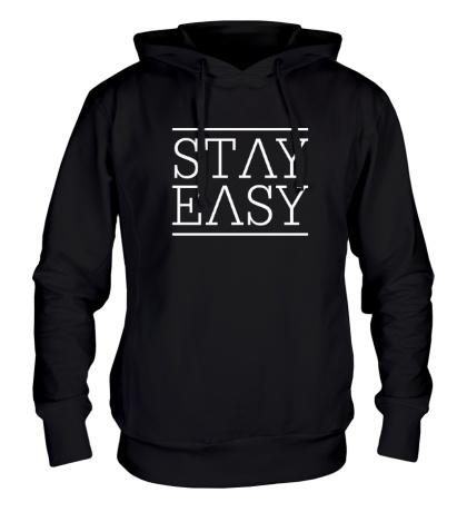Толстовка с капюшоном Stay easy