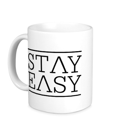 Керамическая кружка Stay easy