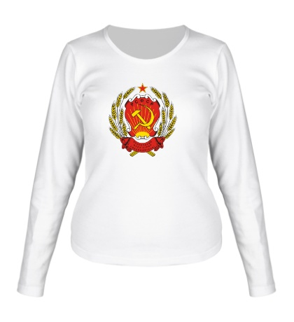 Женский лонгслив Герб РСФСР