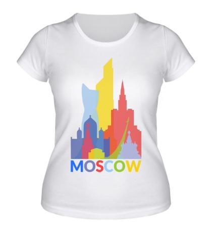 Женская футболка Moscow City